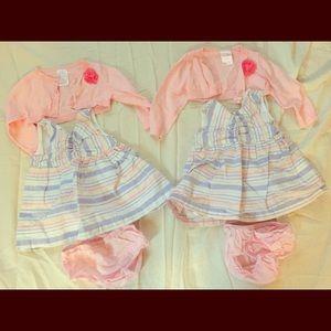Twin girl dress set 6-9 months